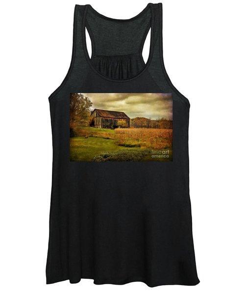 Old Barn In October Women's Tank Top