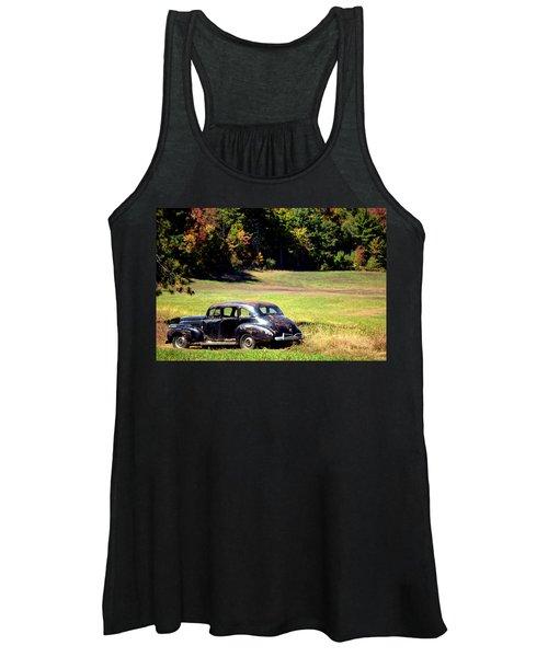 Old Car In A Meadow Women's Tank Top