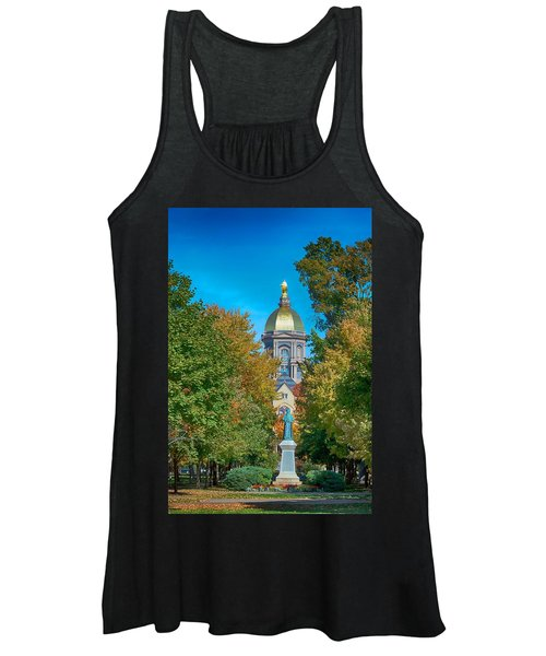 On The Campus Of The University Of Notre Dame Women's Tank Top