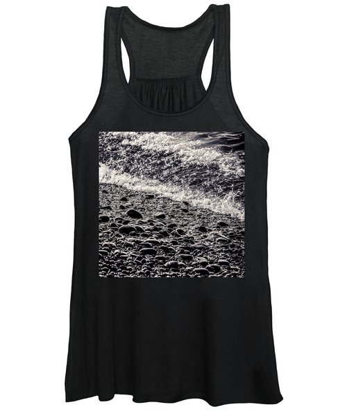 On The Rocks  French Beach Square Women's Tank Top