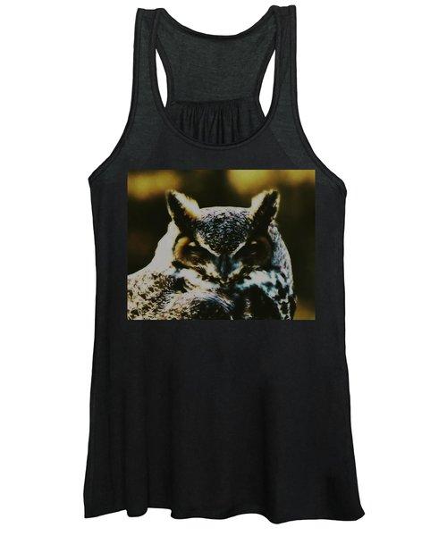 Owl Portrait Women's Tank Top