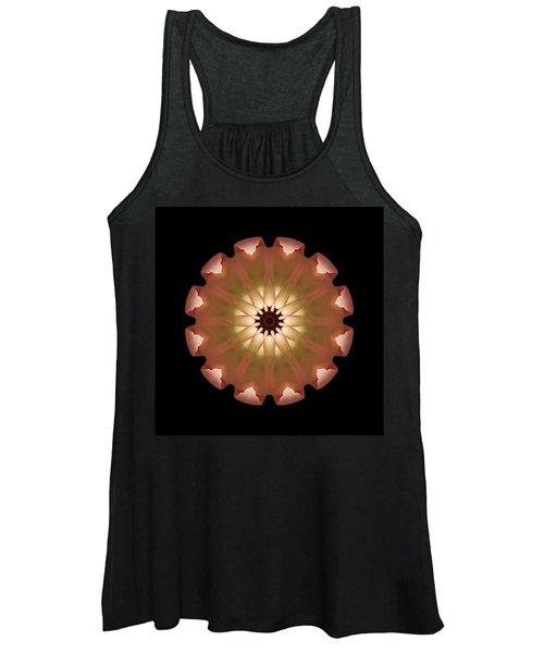 Pale Pink Tulip Flower Mandala Women's Tank Top