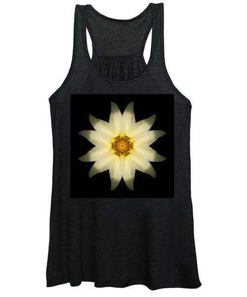 Pale Yellow Daffodil Flower Mandala Women's Tank Top