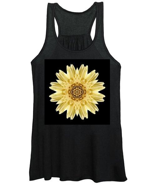 Pale Yellow Gerbera Daisy I Flower Mandala Women's Tank Top
