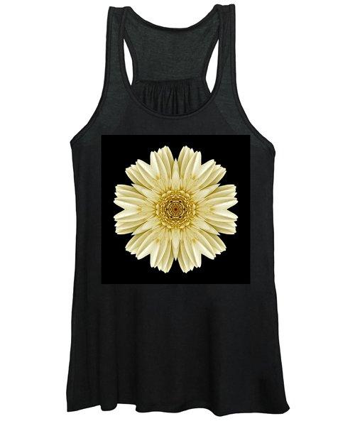 Pale Yellow Gerbera Daisy IIi Flower Mandala Women's Tank Top