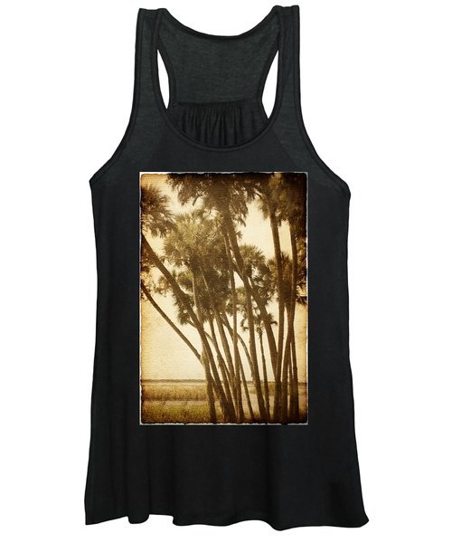 Palm Trees Along The River Women's Tank Top