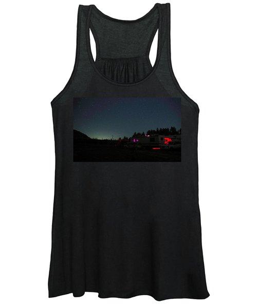 Perseid Meteor-julian Night Lights Women's Tank Top