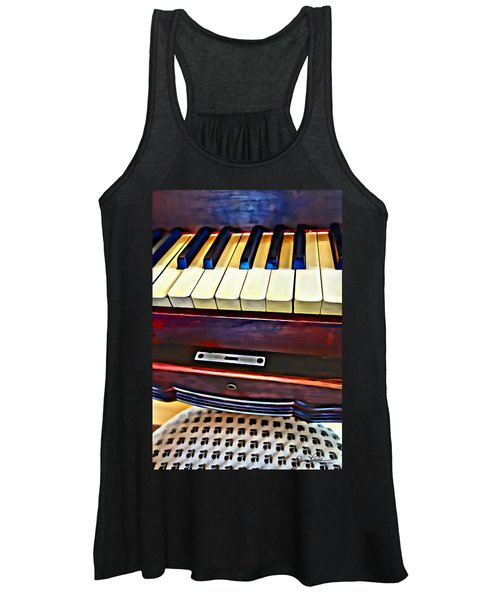 Piano And Stool Women's Tank Top