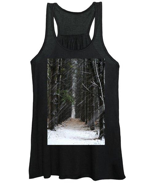 Pines In Snow Women's Tank Top