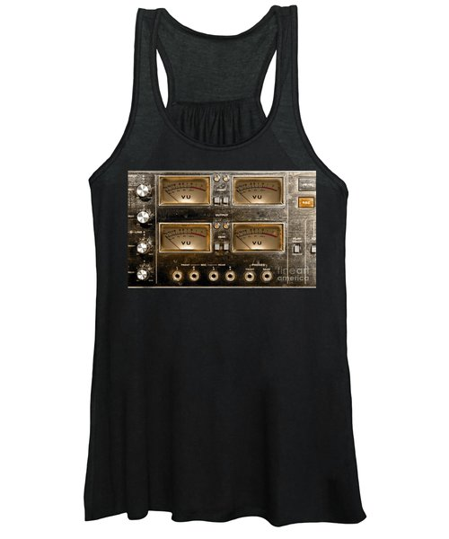 Playback Recording Vu Meters Grunge Women's Tank Top