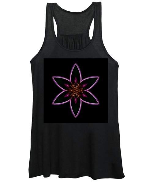Purple Echinacea Flower Mandala Women's Tank Top