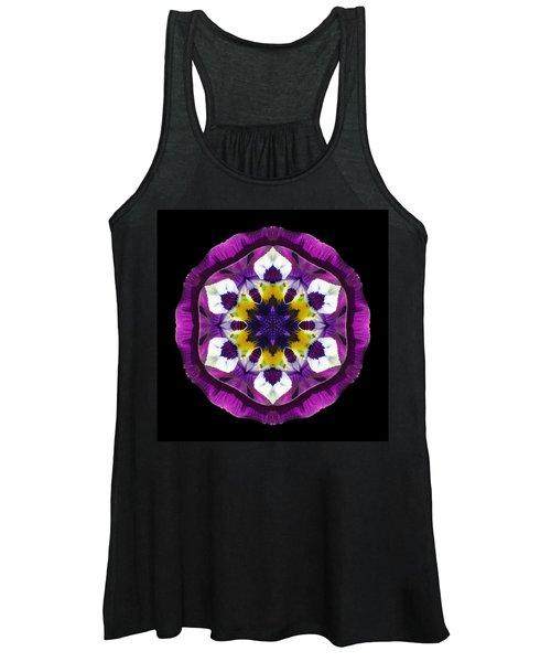 Purple Pansy II Flower Mandala Women's Tank Top