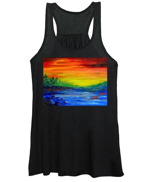 Rainbow Back Waters Women's Tank Top