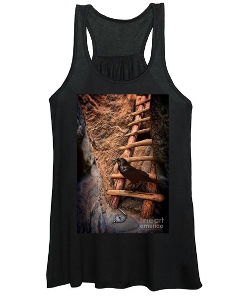 Raven On Ladder With Compass Women's Tank Top