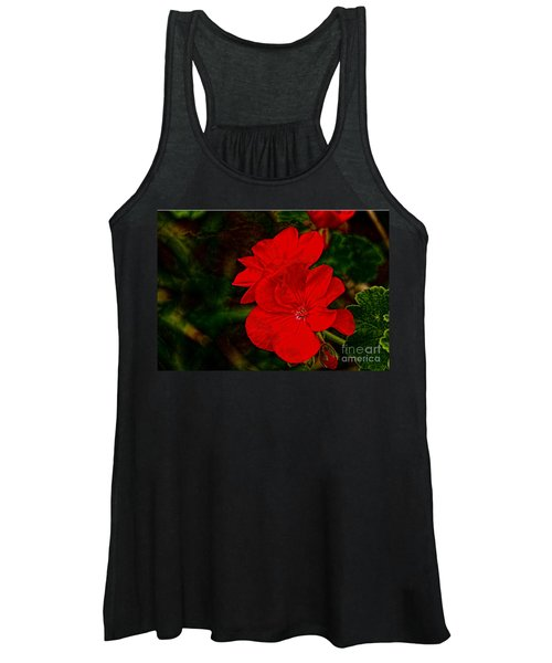 Red Flowers Women's Tank Top