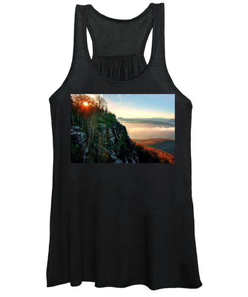 Red Sun Rays On The Lilienstein Women's Tank Top
