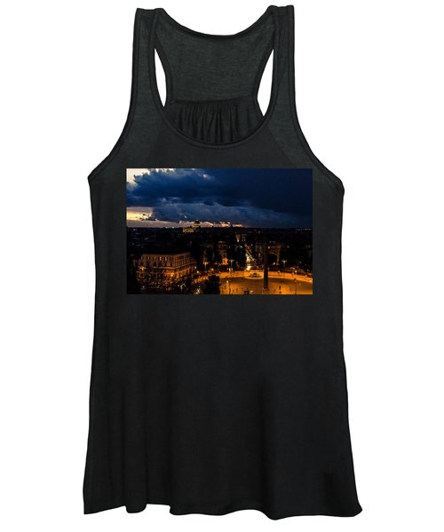 Rome Cityscape At Night  Women's Tank Top