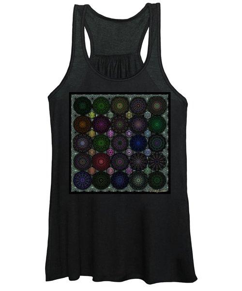 Rose Window Kaleidoscope Quilt Women's Tank Top