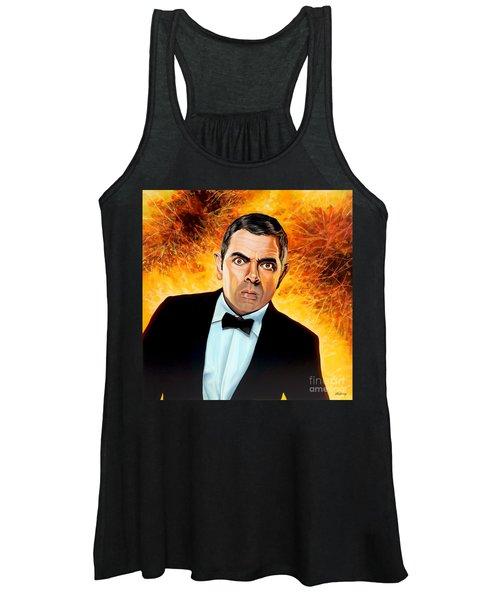 Rowan Atkinson Alias Johnny English Women's Tank Top