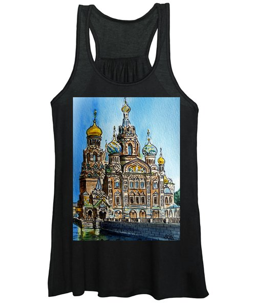 Saint Petersburg Russia The Church Of Our Savior On The Spilled Blood Women's Tank Top