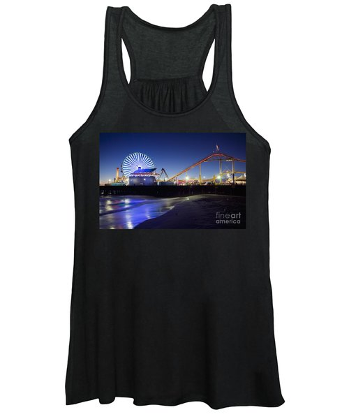 Santa Monica Pier At Night Women's Tank Top