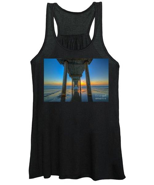 Scripps Pier Sunset Women's Tank Top