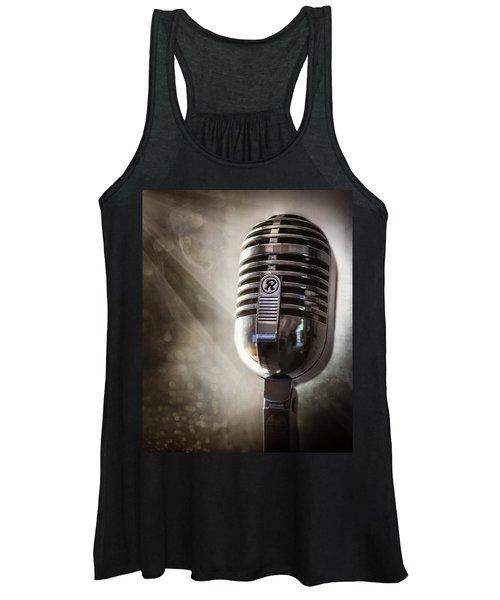 Smoky Vintage Microphone Women's Tank Top