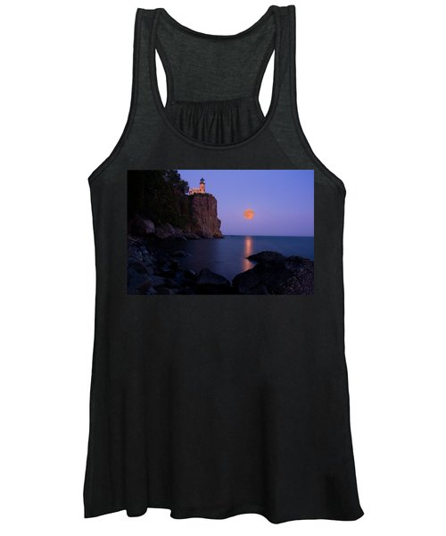 Split Rock Lighthouse - Full Moon Women's Tank Top