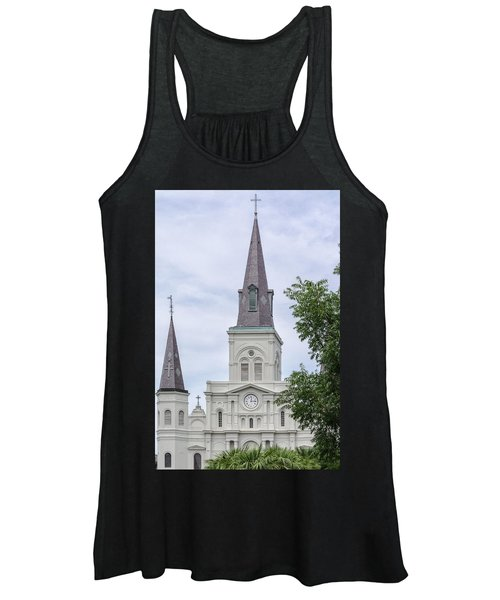 St. Louis Cathedral Through Trees Women's Tank Top