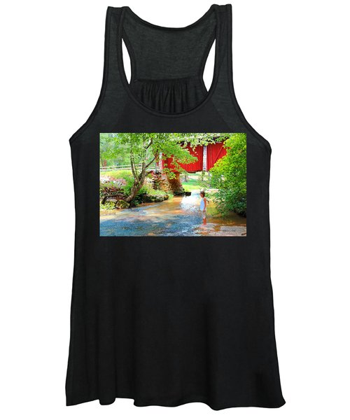 Standing By The River At Campbell's Bridge Women's Tank Top