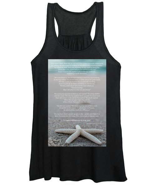 Starfish Make A Difference  Women's Tank Top