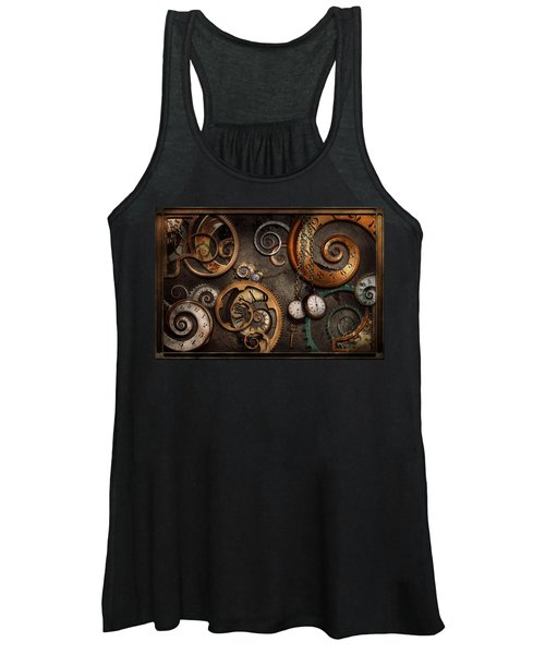 Steampunk - Abstract - Time Is Complicated Women's Tank Top