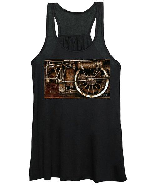 Steampunk- Wheels Of Vintage Steam Train Women's Tank Top