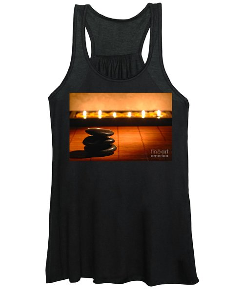 Stone Cairn And Candles For Quiet Meditation Women's Tank Top