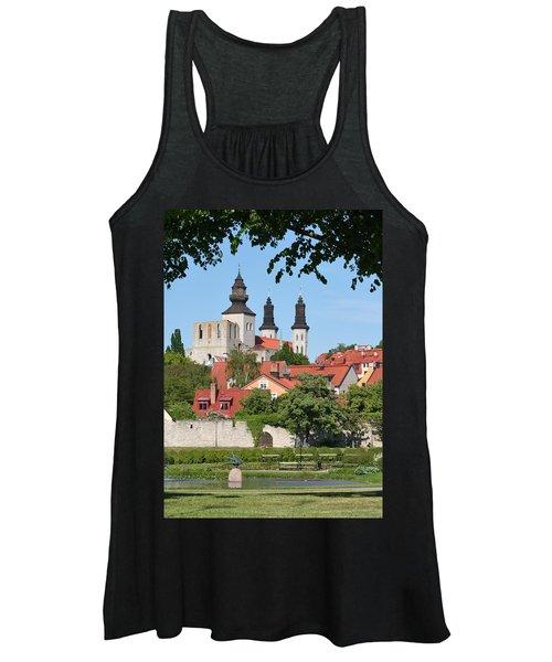 Summer Green Medieval Town Women's Tank Top