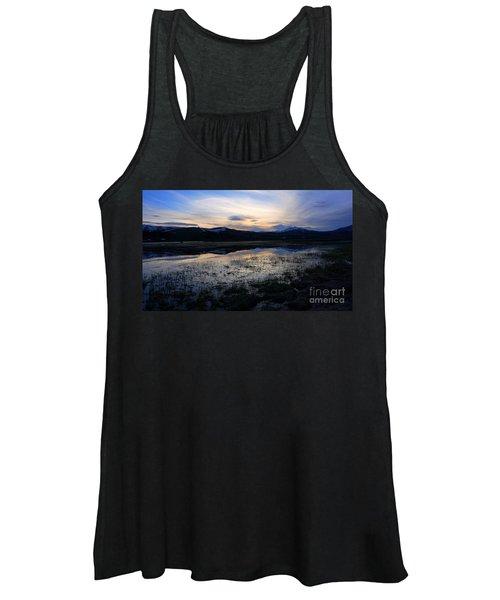 Sunset At A Lake Near Mammoth In Yellowstone Women's Tank Top