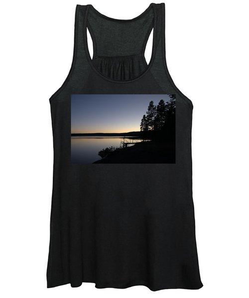 Sunset Over Yellowstone Lake Women's Tank Top