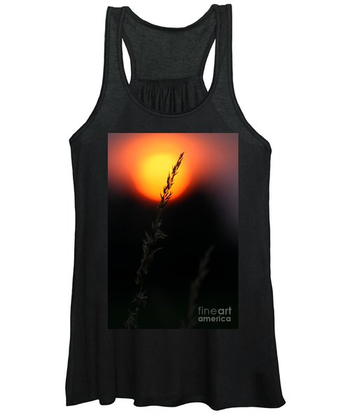 Sunset Seed Silhouette Women's Tank Top