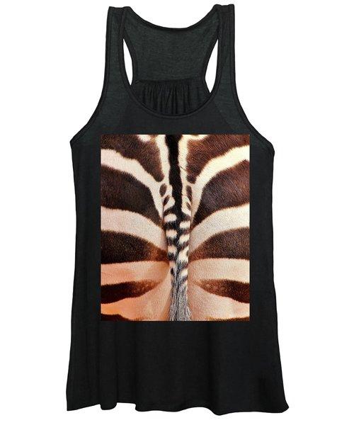 Tailing A Zebra Women's Tank Top