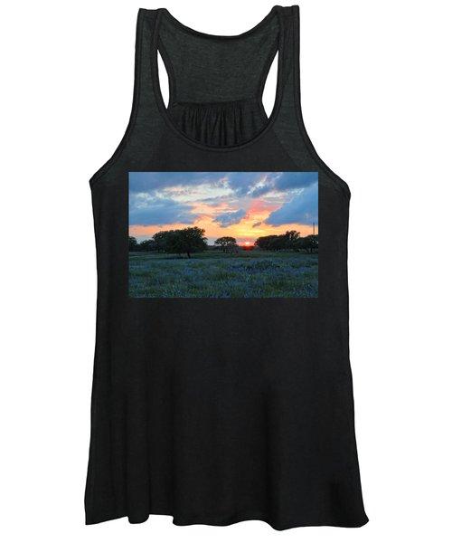 Texas Wildflower Sunset  Women's Tank Top