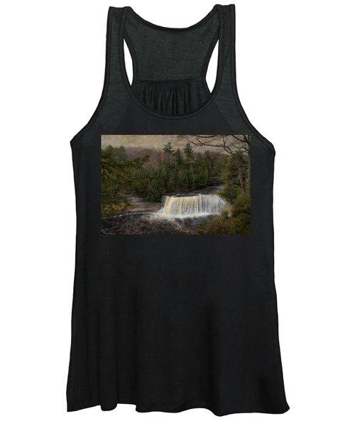 Textured Tahquamenon River Michigan Women's Tank Top