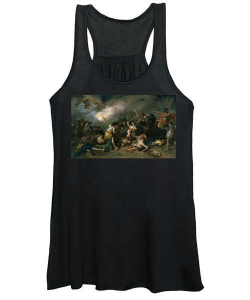 The Final Day Of Sagunto In 219bc, 1869 Oil On Canvas Women's Tank Top