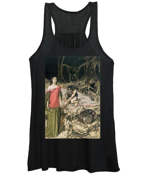 The Wooing Of Grimhilde The Mother Of Hagen From 'siegfried And The Twilight Of The Gods Women's Tank Top