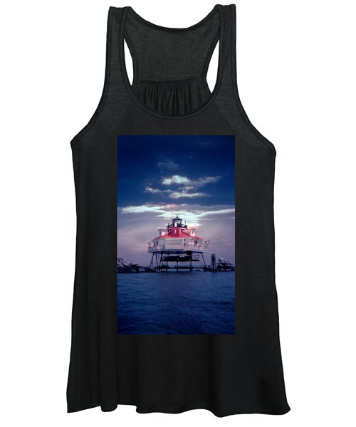 Thomas Pt.  Shoal Lighthouse Women's Tank Top