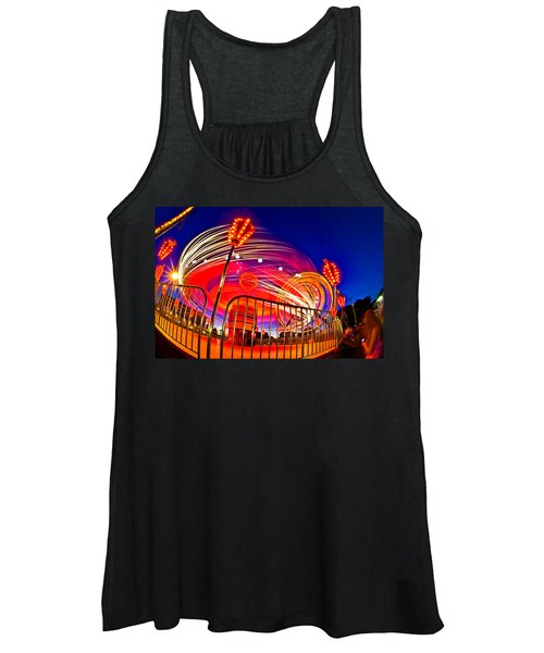 Time Exposure Of A Carnival Ride Women's Tank Top