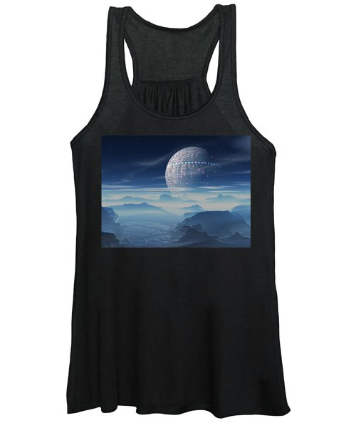 Tranus Alien Planet With Satellite Women's Tank Top
