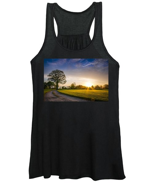 Trees At Dawn On Golf Course Women's Tank Top