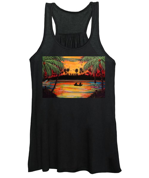 Tropical Halloween In Party Cove 2 Women's Tank Top