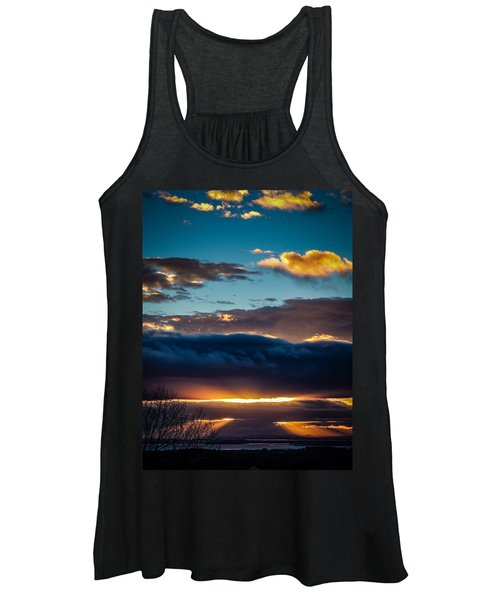 Women's Tank Top featuring the photograph Tunnels Of Light Over Ireland's Shannon Airport by James Truett