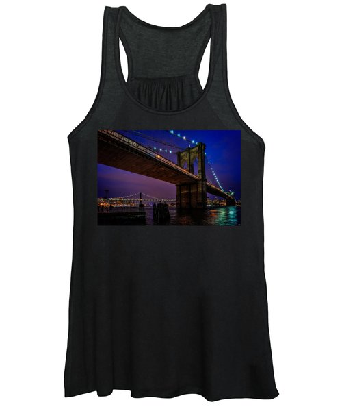 Twilight At The Brooklyn Bridge Women's Tank Top